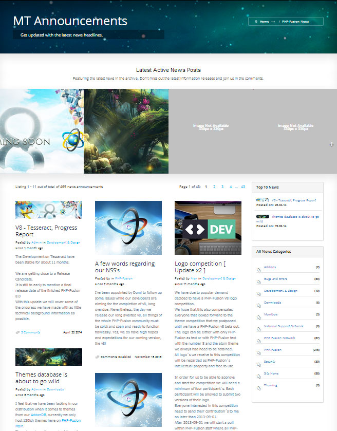 News: The Atom-X Theme - Official Home of PHP-Fusion