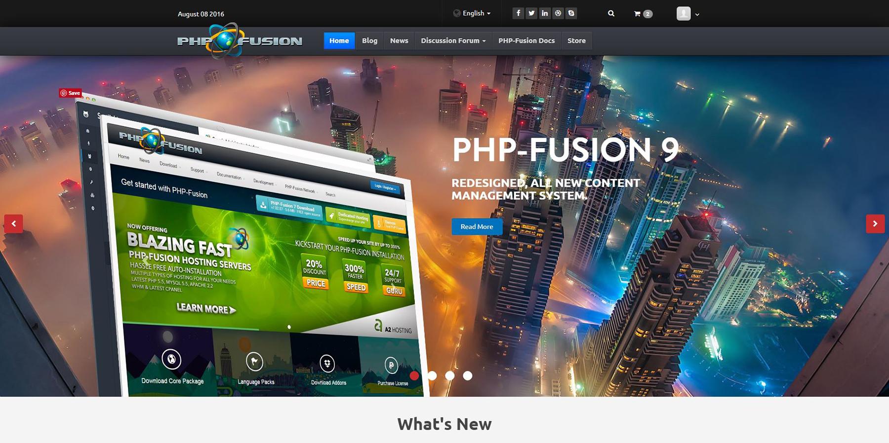 PHP-Fusion.co.uk pradinio puslapio nuotrauka